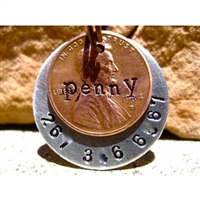lucky penny dog id tag
