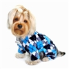 blue black argyle dog pajamas