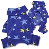 fleece stars dog pajamas
