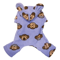 lavender silly monkey pajamas for dogs