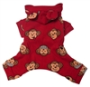 red silly monkey pajamas for dogs