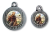 lucky pup st francis dog id tag