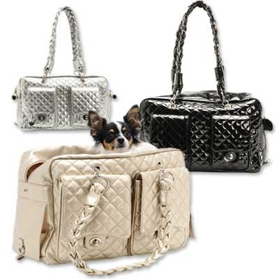 black alex luxe dog carrier