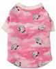 pink lamb thermal dog tee
