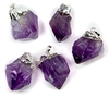 amethyst point dog collar charm