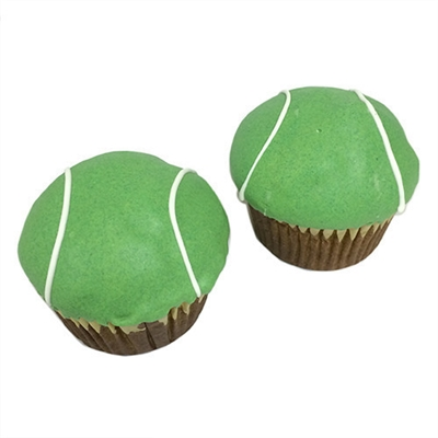 tennis ball cupcakes for dogs