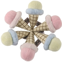 gelato ice cream cone dog toy