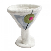 plush martini dog toy