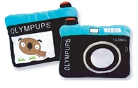 olympups camera plush dog toy