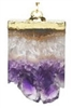 amethyst slice dog collar charm