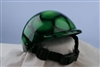 airbrushed green glitter dog helmet