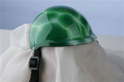 airbrushed green lightning dog helmet
