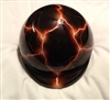 airbrushed orange lightning dog helmet