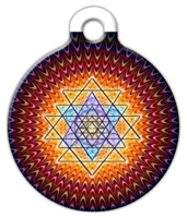 sacred geometry sri yantra dog id tag
