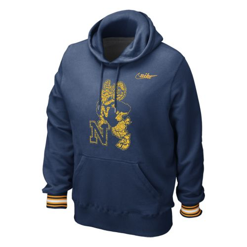 Naval Academy Vault Stripe Pull-over Hooded Sweatshirt