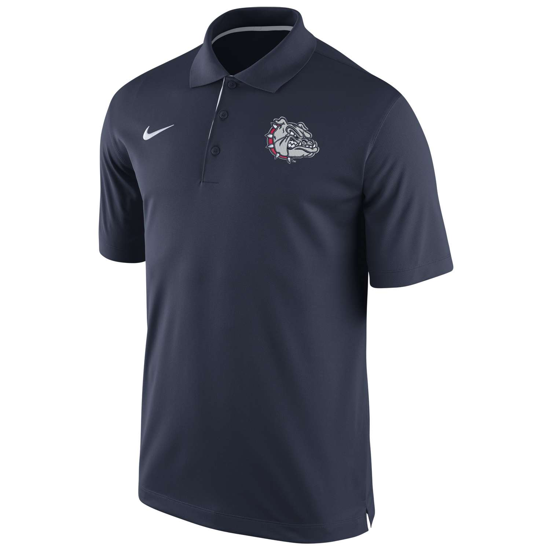 Nike gonzaga bulldogs dri fit performance polo shirt for Nike custom polo shirts