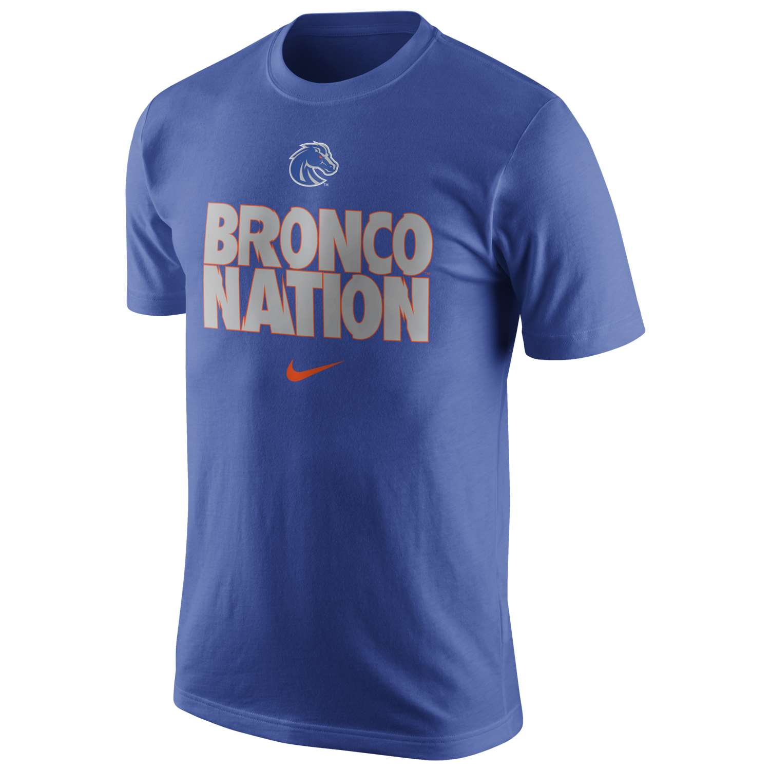 Nike boise state broncos local cotton t shirt for Boise t shirt printing