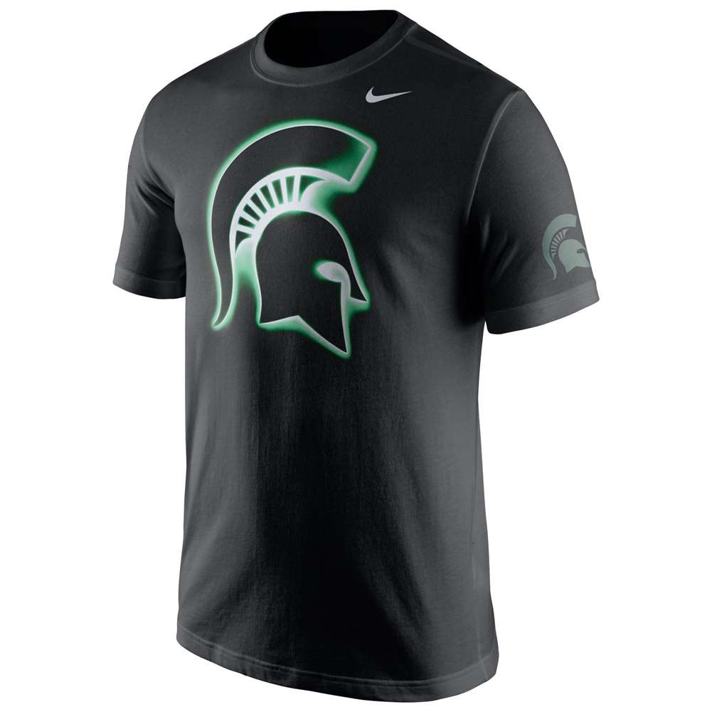 Nike michigan state spartans campus elements t shirt for Michigan state spartans t shirts