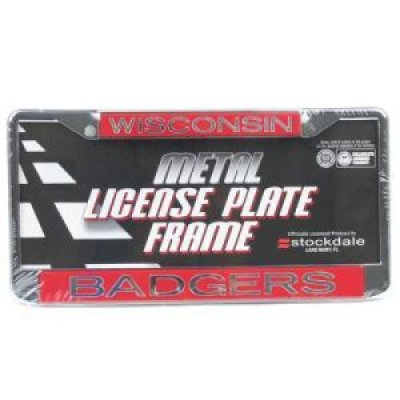 Wisconsin Metal Inlaid Acrylic License Plate Frame