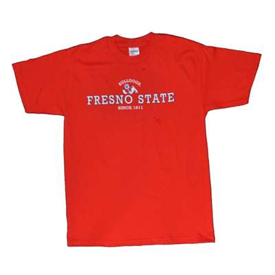 Fresno State T Shirt Team Logo Red