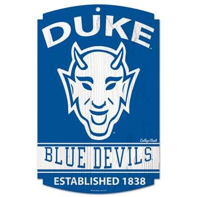 Duke Blue Devils Vault Fan Cave Wood Sign