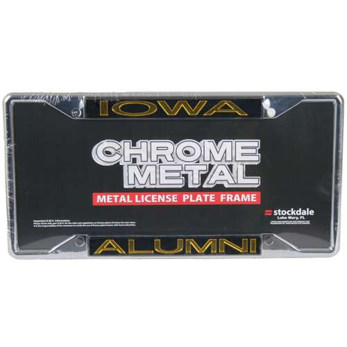 Iowa Hawkeyes Metal Alumni Inlaid Acrylic License Plate Frame