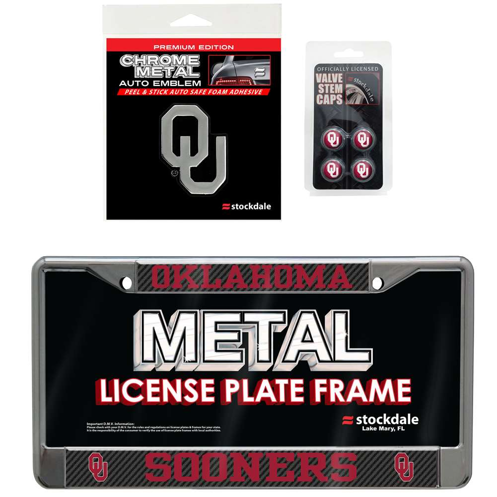Oklahoma Sooners 3 Piece Automotive Fan Kit