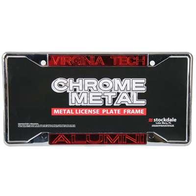 Virginia Tech Hokies Metal Alumni Inlaid Acrylic License