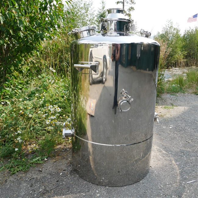 53 Gallon Stainless single walled boiler