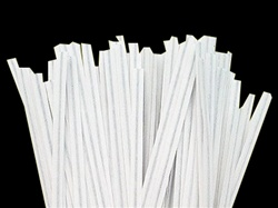 "6"" White Paper Twist Ties 2,000/cs"