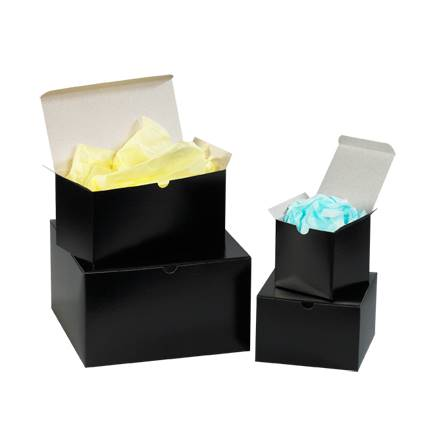 "10 x 10 x 6"" Black Gloss Gift Boxes"