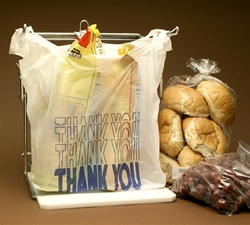 CT1620TY 10x6x20 Thank You Printed T-shirt bags / Merchandise Bags