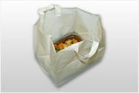 TO14115 14x11.5+12+11.5 HD White Opaque Take Out Bags C/B Insert