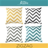 Zig Zag Linen Cushion Cover