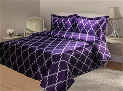Lattice Satin Quilt Cover Sett