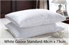 Standard White Goose Down Pillows