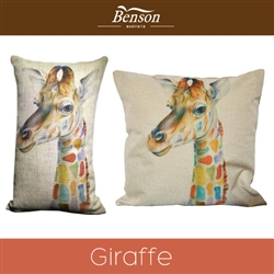 Giaffe Linen Cushion Cover