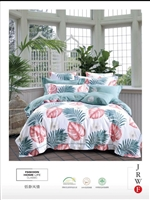 Luxury Printed Pure Cotton Quilt Cover Set- Tranquil