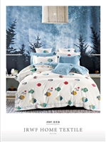 Brorden Kids Printed Pure Cotton Single Bed Fitted sheet-Fishie