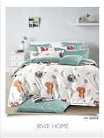 Brorden Kids Printed Pure Cotton Single Bed Fitted sheet-Squirrel