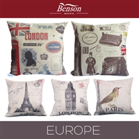 Europe Linen Cushion Cover