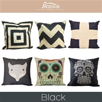 Black Linen Cushion Cover
