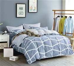 Luxury printed cotton quilt cover set - BOSTON