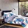 Luxury printed cotton quilt cover set - CAMERON