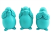 Bird set of 3 aqua