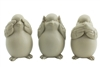 Bird set of 3 taupe