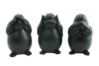 Bird set of 3 matt black