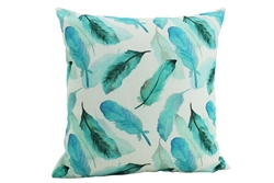 Inky feathers cushion 45x45cm