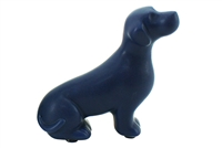 Blue sitting dog 11.1x4.1x10.3