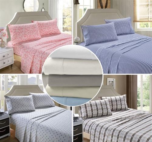 Egyptian Cotton Flannelette Sheet Set